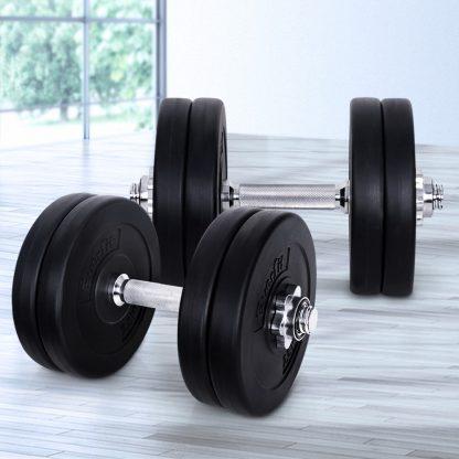 Everfit Fitness Gym Exercise Dumbbell Set 25kg