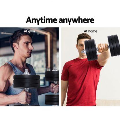 Everfit Fitness Gym Exercise Dumbbell Set 35kg