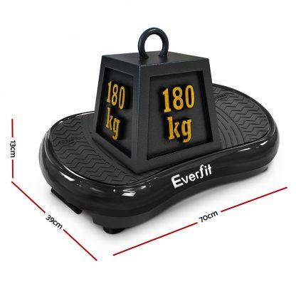 Everfit Vibration Machine Plate Platform Body Shaper Home Gym Fitness Black