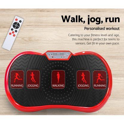 Everfit Vibration Machine Plate Platform Body Shaper Home Gym Fitness Red