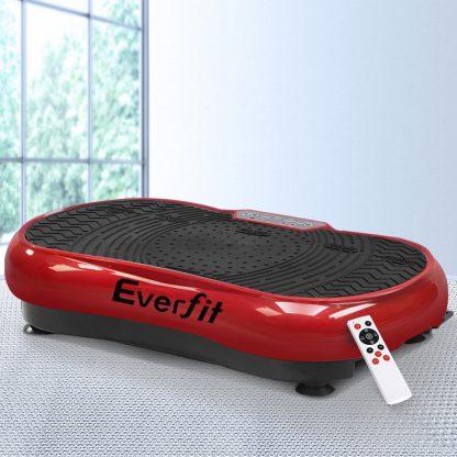 Everfit Vibration Machine Plate Platform Body Shaper Home Gym Fitness Maroon