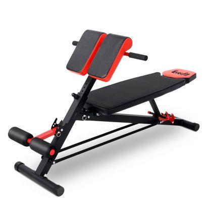 Everfit Adjustable Weight Bench Sit-up Fitness Flat Decline Home Gym Machine Steel Frame