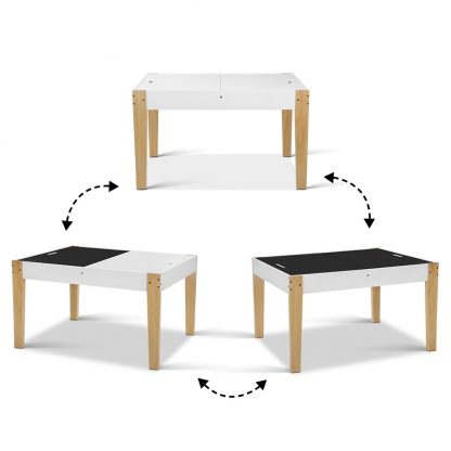 Keezi Kids Table and Chairs Set Chalkboard Toys Play Storage Desk Children Game