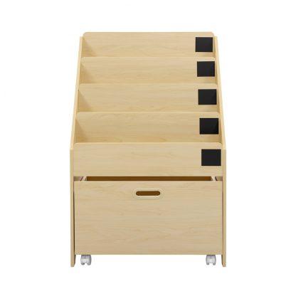 Keezi Kids Bookcase Childrens Bookshelf Organiser Storage Shelf Wooden Beige