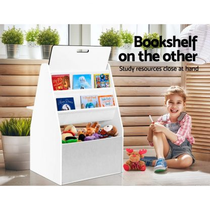Keezi Kids Bookshelfs Child Bookcases Kids Easel Whiteboard Magazine Rack Desk