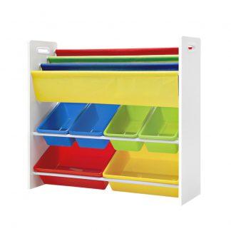 Keezi Kids Bookcase Childrens Bookshelf Toy Storage Organizer 3Tier Display Rack
