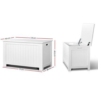 Keezi Kids Toy Box Storage Chest Cabinet Children Organiser White Container