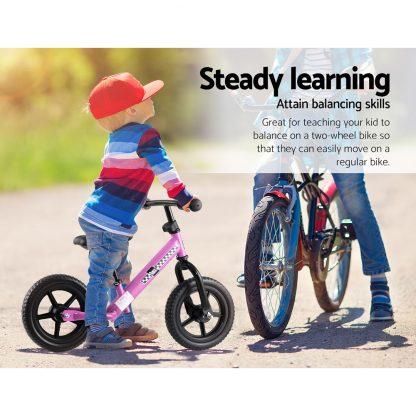 "Kids Balance Bike Ride On Toys Puch Bicycle Wheels Toddler Baby 12"" Bikes Pink"