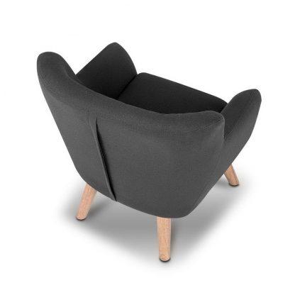 Keezi Kids Sofa Armchair Fabric Furniture Lorraine French Couch Children Black