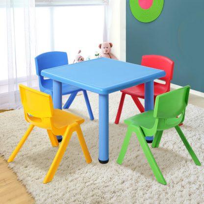 Keezi 5 Piece Kids Table and Chair Set - Blue