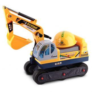 Keezi Kids Ride On Excavator - Yellow