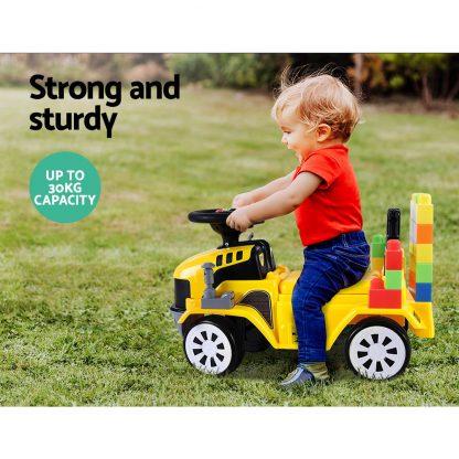 Keezi Kids Ride On Car w/ Building Blocks Toy Cars Engine Vehicle Truck Children