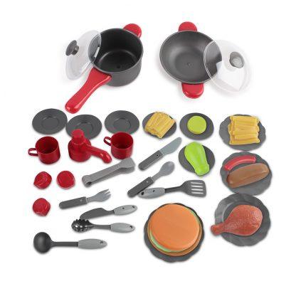 Keezi Kids Mini Chef Cookware Set - Red