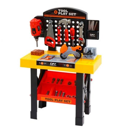Keezi Kids Pretend Play Set Workbench Tools 54pcs Builder Work Childrens Toys
