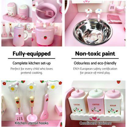 Keezi Kids Kitchen Play Set - Pink
