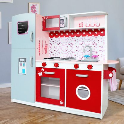 Keezi Kids Cookware Play Set - Pink & Red