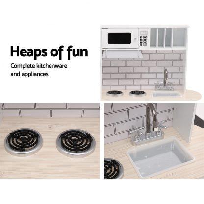 Keezi Wooden Kitchen Pretend Play Set