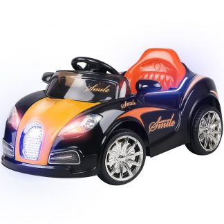 Rigo Kids Ride On Car - Black & Orange