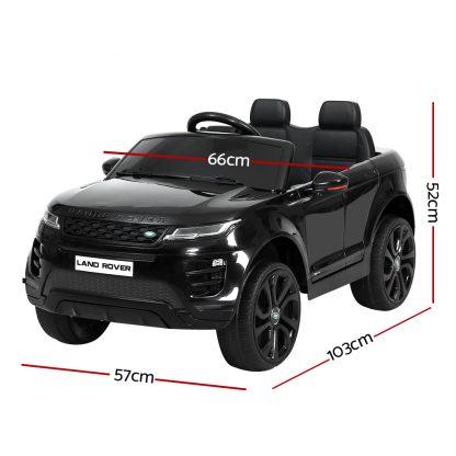 Kids Ride On Car Licensed Land Rover 12V Electric Car Toys Battery Remote Black