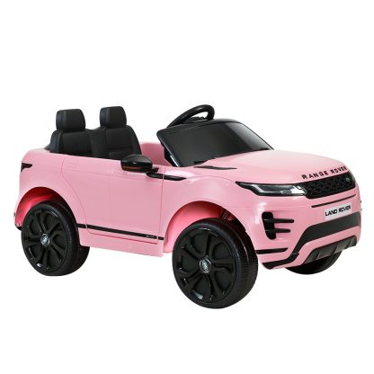 Kids Ride On Car Licensed Land Rover 12V Electric Car Toys Battery Remote Pink