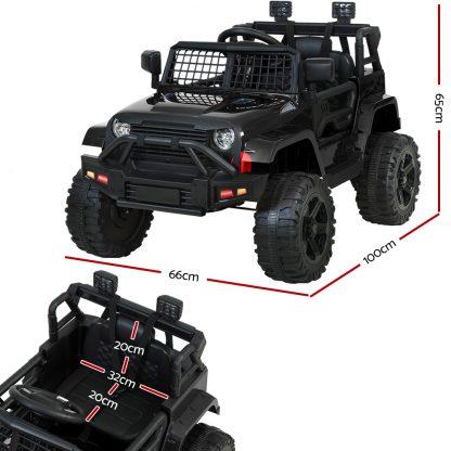 Rigo Kids Ride On Car Electric 12V Car Toys Jeep Battery Remote Control Black