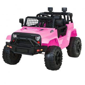 Rigo Kids Ride On Car Electric 12V Car Toys Jeep Battery Remote Control Pink