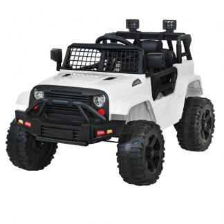Rigo Kids Ride On Car Electric 12V Car Toys Jeep Battery Remote Control White
