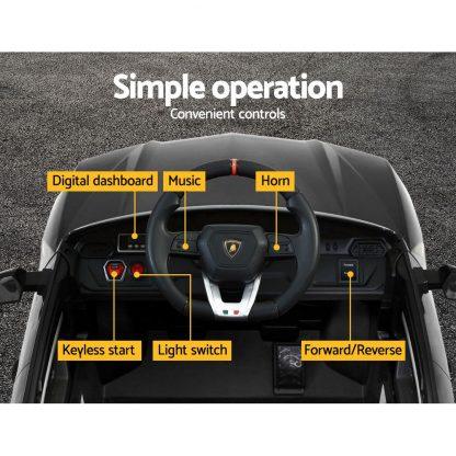 12V Electric Kids Ride On Toy Car Licensed Lamborghini URUS Remote Control Black