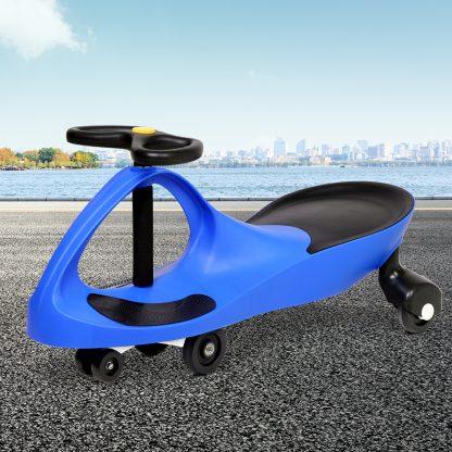 Keezi Kids Ride On Swing Car - Blue