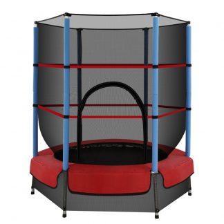 4.5FT Trampoline Round Trampolines Kids Enclosure Safety Net Padding Outdoor Indoor Gift Present