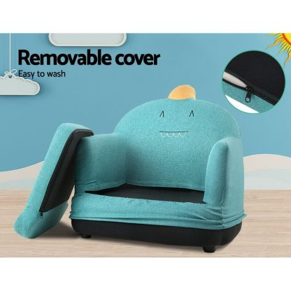 Keezi Kids Sofa Toddler Couch Lounge Chair Children Armchair Fabric Furniture
