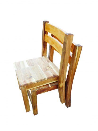 2 x Acacia Stacking Chair