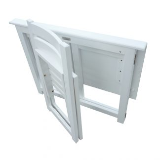French White Foldable Teen Desk Set
