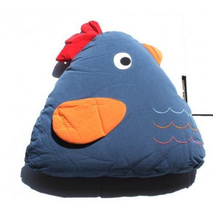 Chick Cuddling Cushion(15x18x35 Cm) Blue