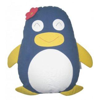 Penguin Cuddling Cushion Grey