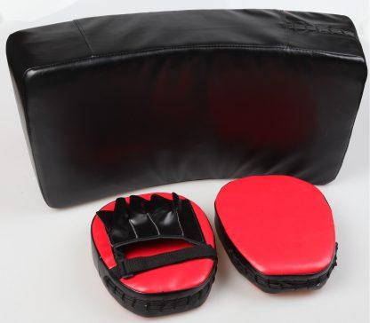 Kicking Boxing Sparring Shield & Punching Pad Mitts Combo