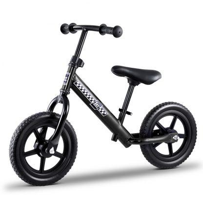 """Kids Balance Bike Ride On Toys Push Bicycle Wheels Toddler Baby 12"""" Bikes-Black"""