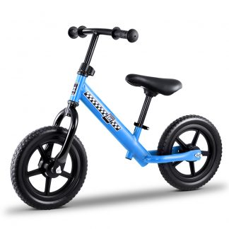 "Kids Balance Bike Ride On Toys Push Bicycle Wheels Toddler Baby 12"" Bikes-Blue"