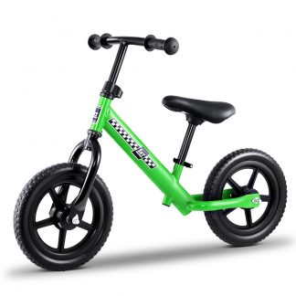 """Kids Balance Bike Ride On Toys Push Bicycle Wheels Toddler Baby 12"""" Bikes-Green"""
