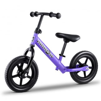 "Kids Balance Bike Ride On Toys Push Bicycle Wheels Toddler Baby 12"" Bikes-Purple"