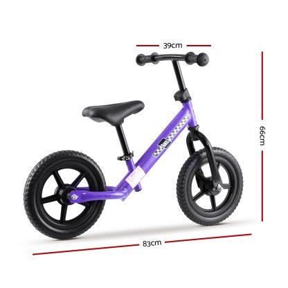"""Kids Balance Bike Ride On Toys Push Bicycle Wheels Toddler Baby 12"""" Bikes-Purple"""
