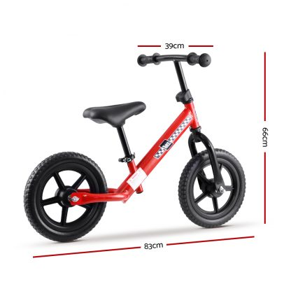 Rigo 12 Inch Kids Balance Bike - Red