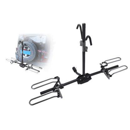 """San Hima 2 Bicycle Carrier Rack Bike Car Rear 2"""" Hitch Tow Bar Mount Platform"""