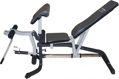FID Flat Incline Decline Bench Press w/ Leg Extension
