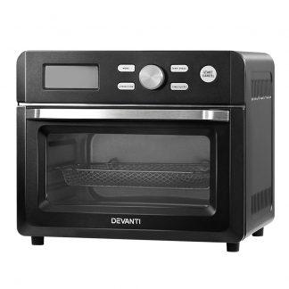 Devanti 20L Air Fryer Convection Oven Oil Free Fryers Kitchen Cooker Accessories Black