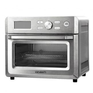 Devanti 20L Air Fryer Convection Oven Oil Free Fryers Kitchen Healthy Cooker Accessories