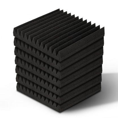 40pcs Studio Acoustic Foam Sound Absorption Proofing Panels 30x30cm Black Wedge