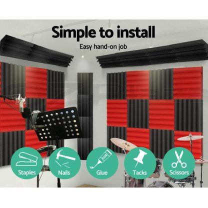 20pcs Studio Acoustic Foam Sound Absorption Proofing Panels Corner DIY