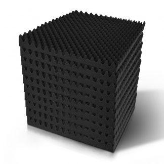 40pcs Studio Acoustic Foam Sound Absorption Proofing Panels 50x50cm Black Eggshell