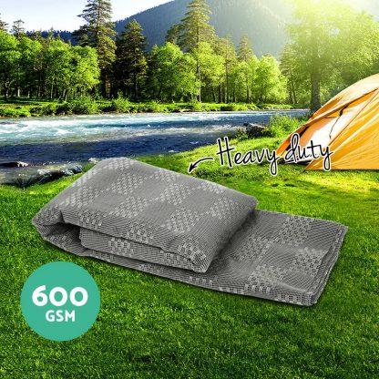 Weisshorn 5M X 2.5M Annex Matting 600 GSM Floor Mats Mesh Caravan Parks Camping